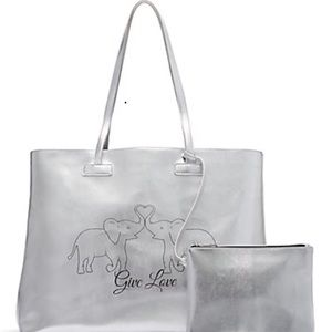 """Silver St. Jude """"Give Love"""" Tote Bag 2 In 1"""